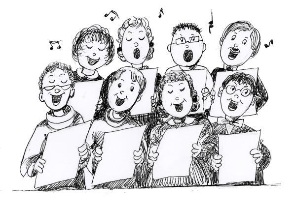 Afbeeldingsresultaat voor zangers cartoon